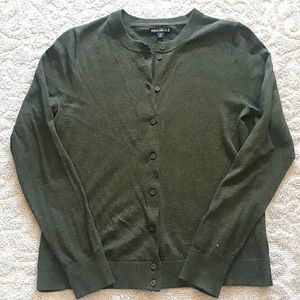 J. Crew Button Up Cardigan, Forest Green